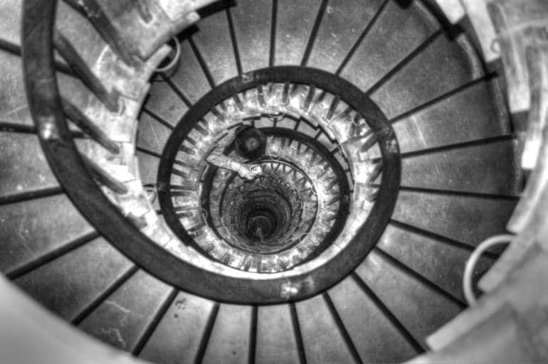 Cheap views in London—Monument Staircase from above