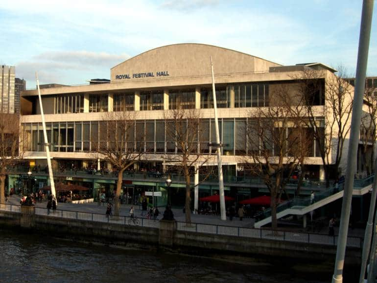A large arts venue by the river Thames in London