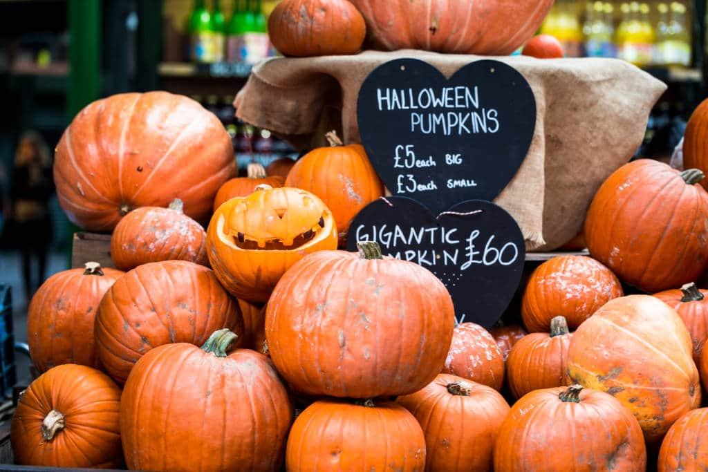 Halloween pumpkins, London