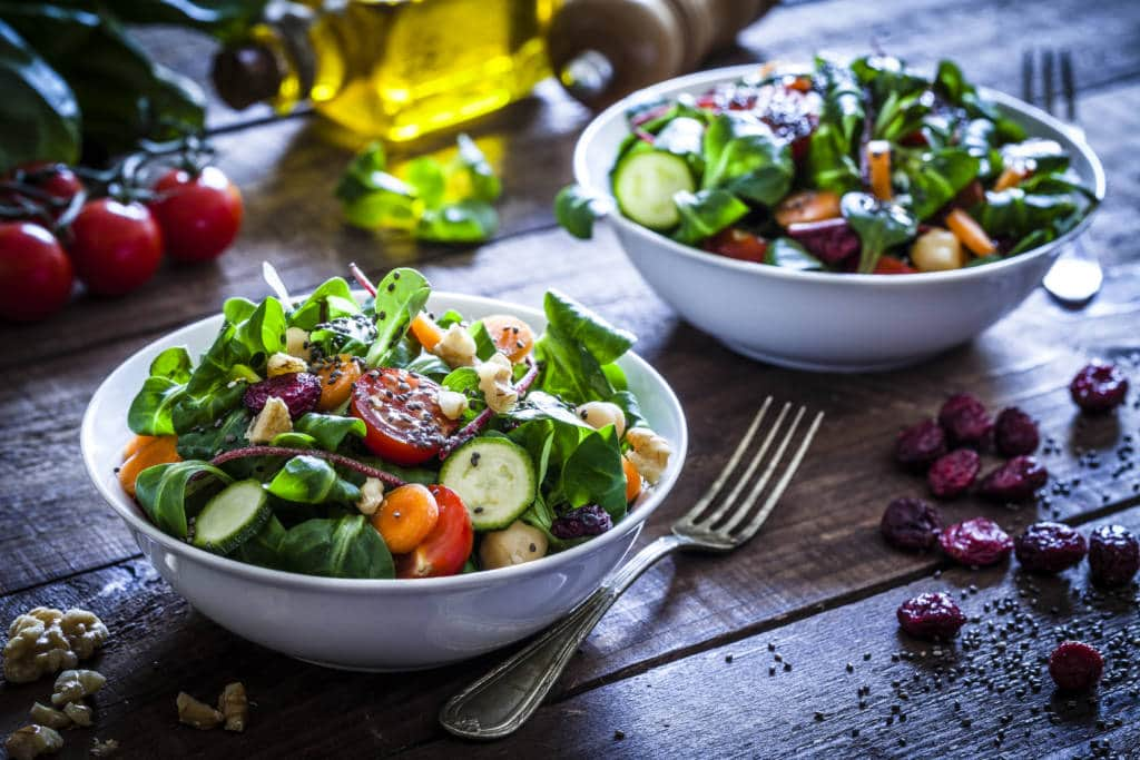 Salad going vegetarian