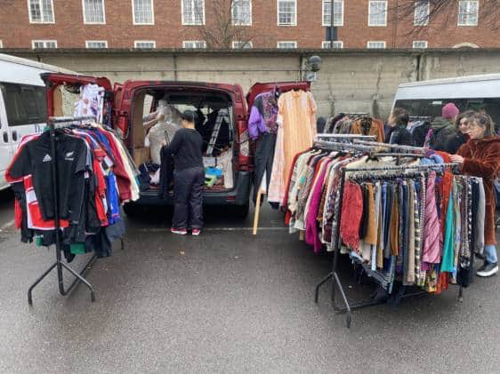 Pimlico Car Boot clothes