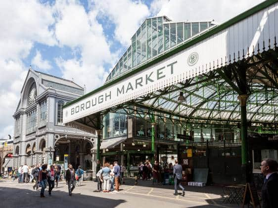 Borough Market, great place for London street food finds