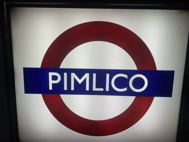 Pimlico London Tube Stations Closed