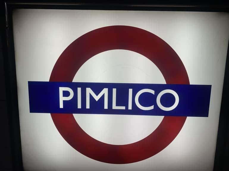 Pimlico London Tube Stations Closed
