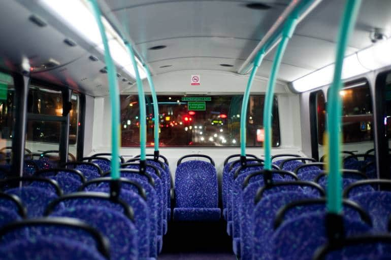 London Night Bus Empty