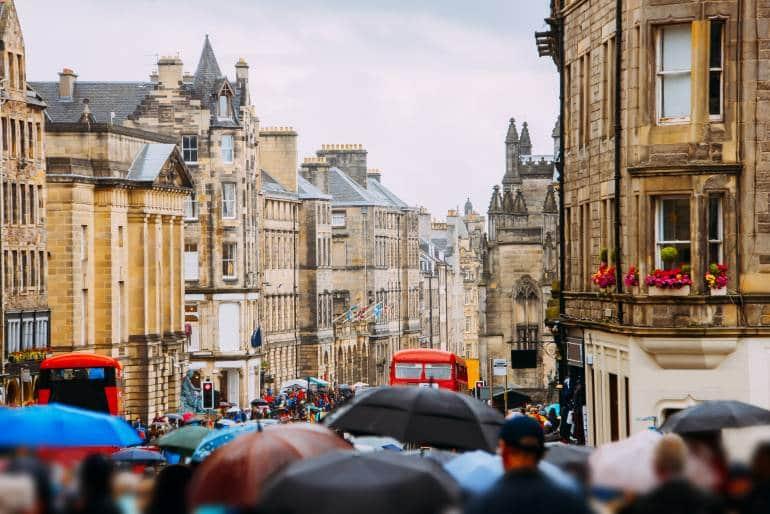 London to Edinburgh Fringe Royal Mile