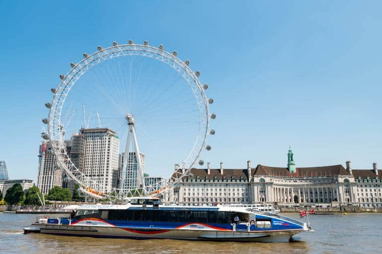 Thames Clipper London ferry boat