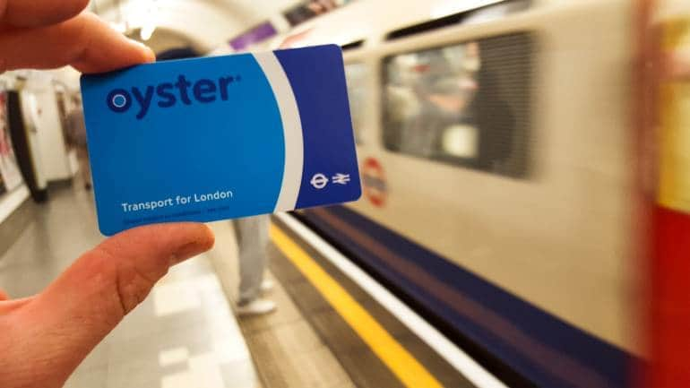 Oyster card getting around in London