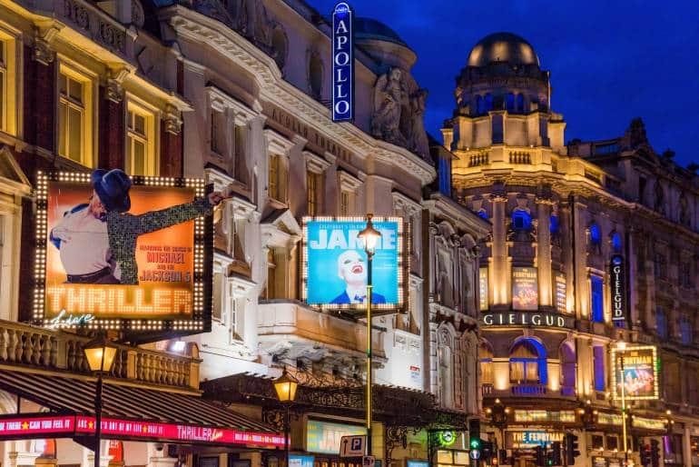 London west end theatres
