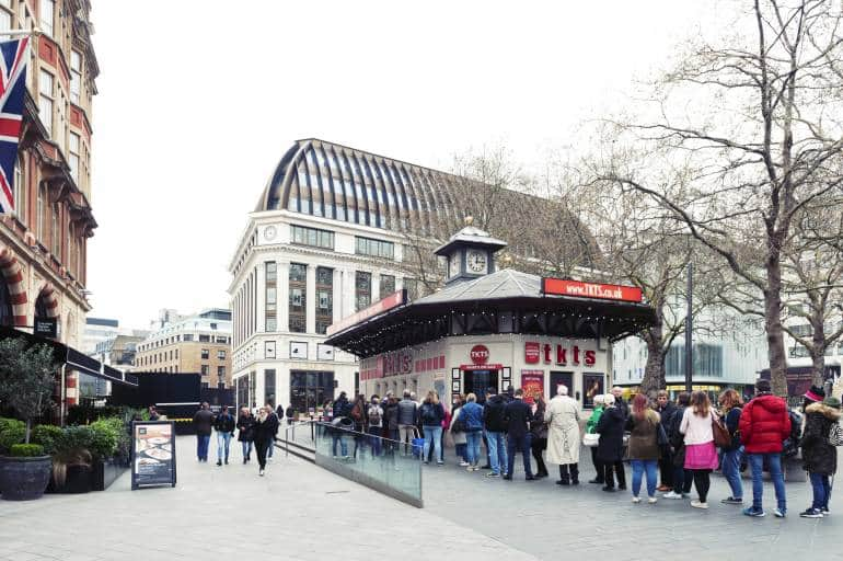 TKTS booth cheap theatre tickets London
