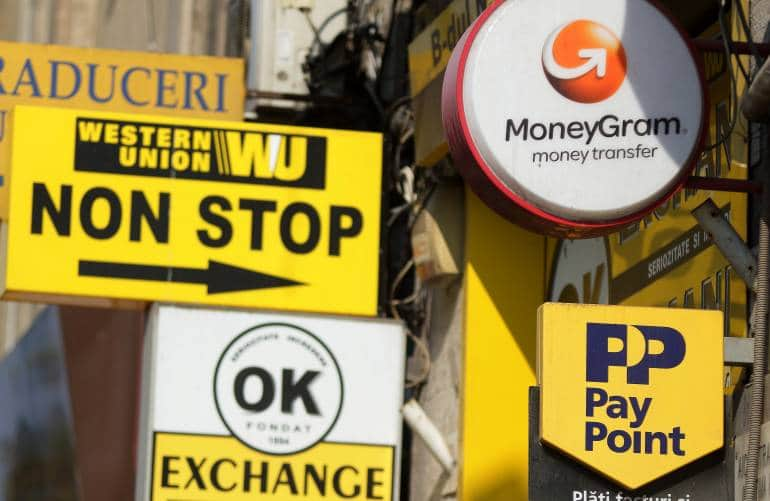 Transfer money out of the UK Western Union