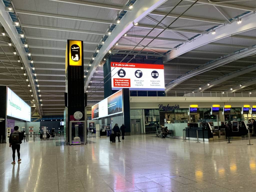 Heathrow Airport during Covid