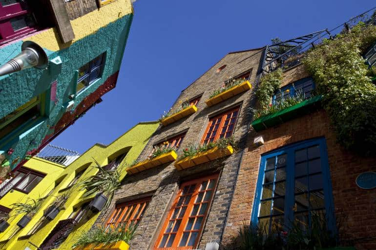 colorful building in Neal's Yard Covent garden London