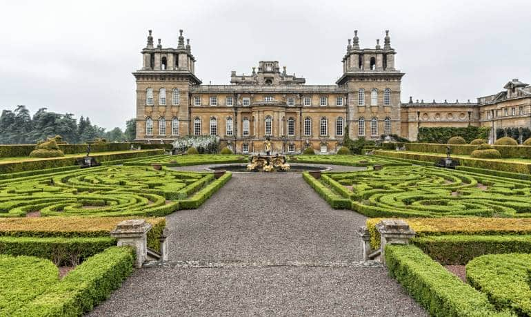 Blenheim Palace and hedge maze, UNESCO World Heritage Site