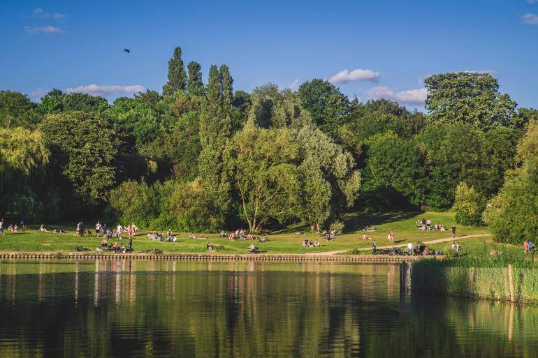 Hampstead Heath, one of the more popular picnic spots in London