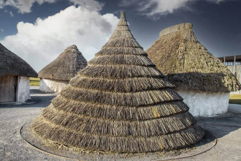 Neolithic straw houses