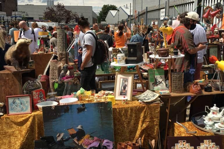 Walthamstow Flea Market in 2021