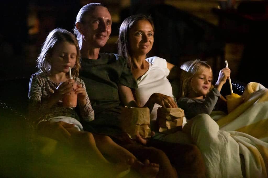 family movie night outdoor cinema
