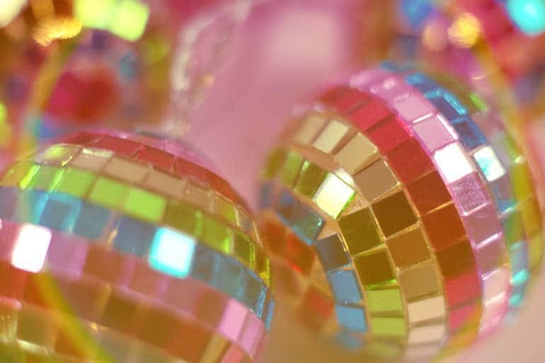 Rainbow disco balls