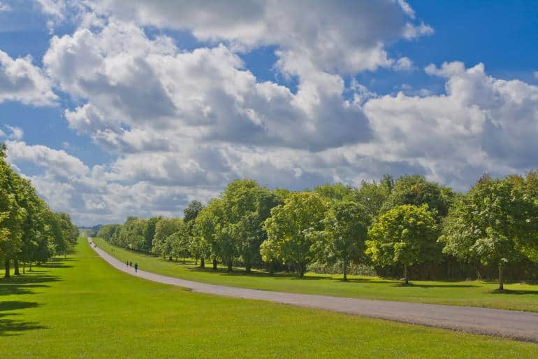 long walk path from windsor great park to windsor castle