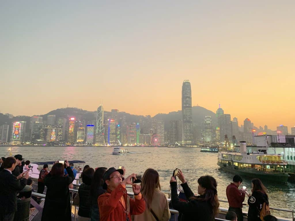 Sunset In Hong Kong From Kowloon
