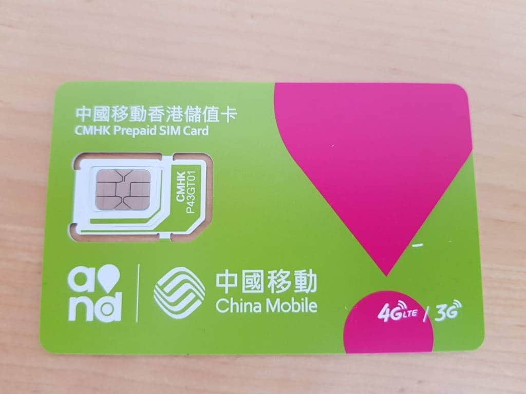 Hong Kong prepaid SIM cards