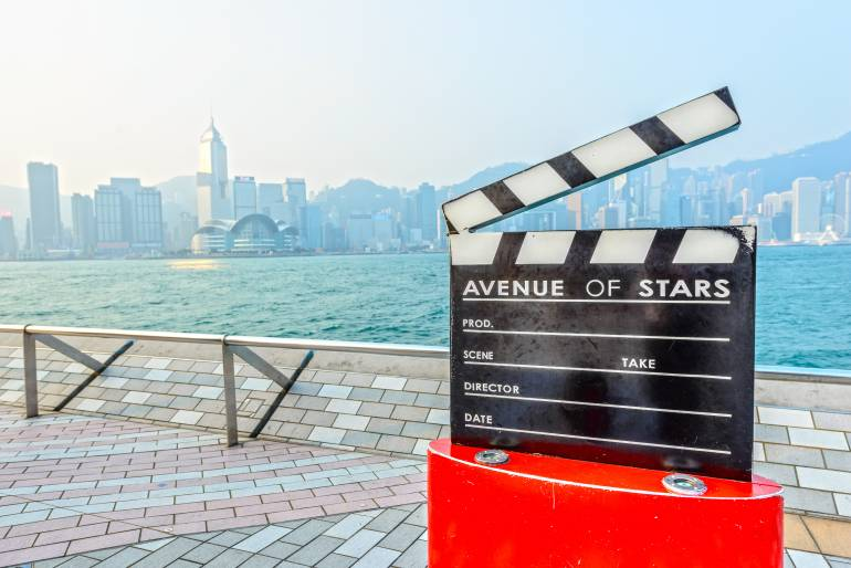 avenue of stars clapperboard
