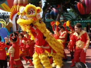 Chinese new year lion dance hk