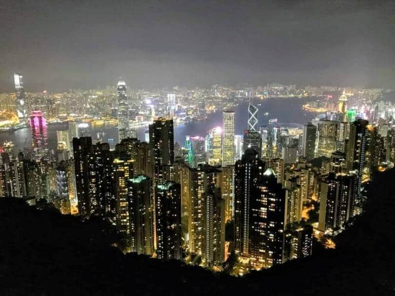 View from Victoria Peak Observatory building
