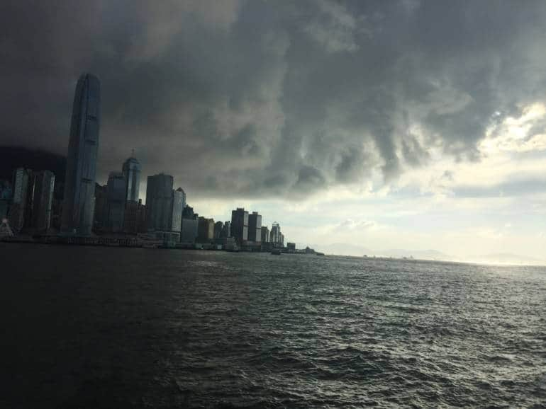 storm clouds Hong kong bad weather