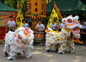 Lion Dance at Kung Fu Corner in Kowloon Park