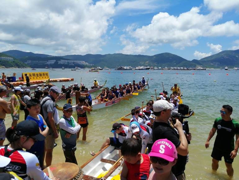 The 2019 Tuen Ng Festival in the Stanley District of Hong kong