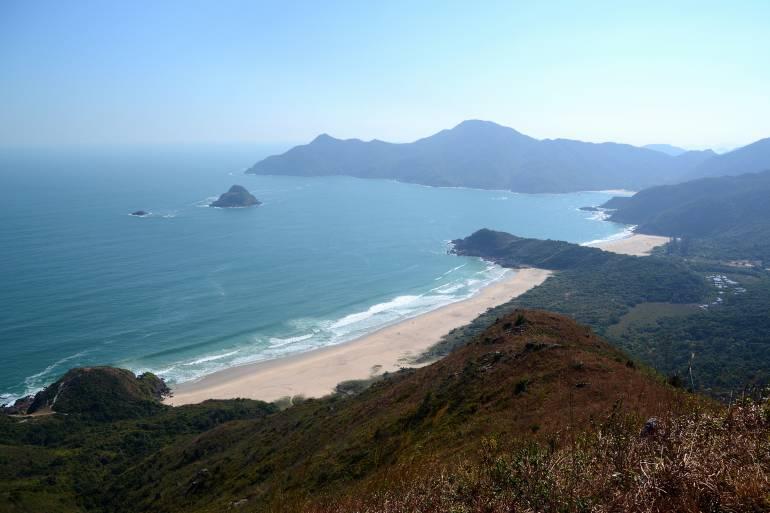 The beautiful Tai Wan and Ham Tin beaches on Tai Long Wan bay in Sai Kung peninsula,