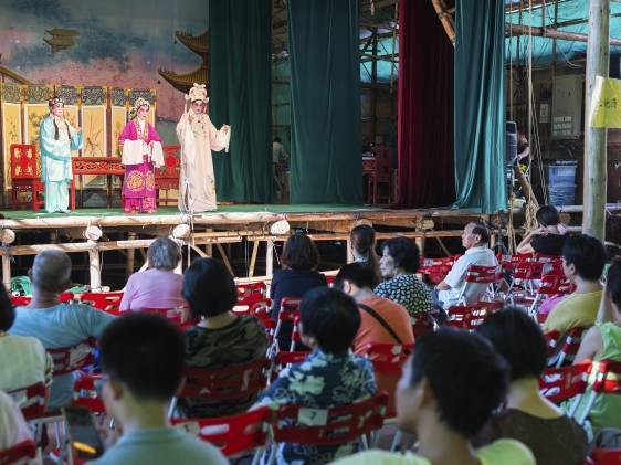 Cantonese opera performed as part of the celebrations of the Hungry Ghost Festival