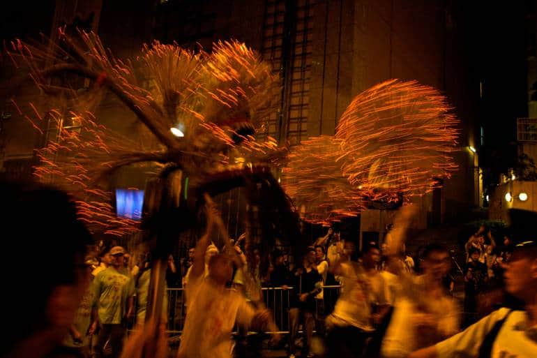 tai hang fire dragon dance hong kong