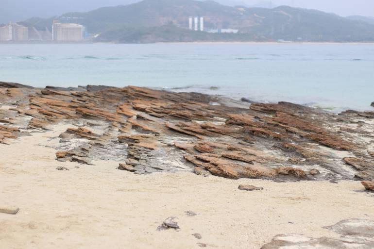 Sedimentary rocks Tung Ping Chau, National Geopark