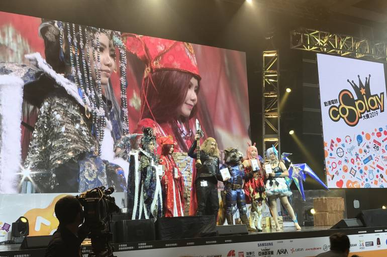 Cosplayers onstage at Anicom Games Hong Kong