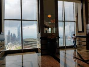 View from Central Plaza Wan Chai Sky lobby 46F