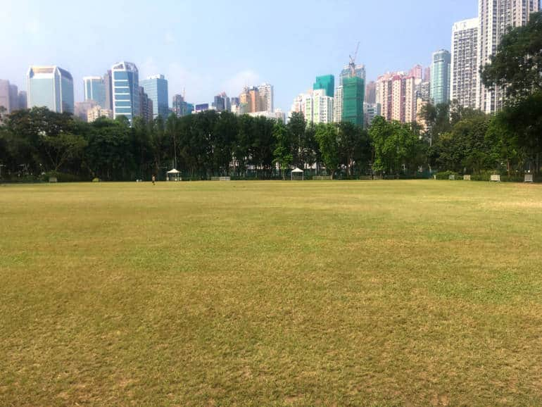 Things to do in Causeway Bay-Hong Kong's Victoria Park picnic lawn