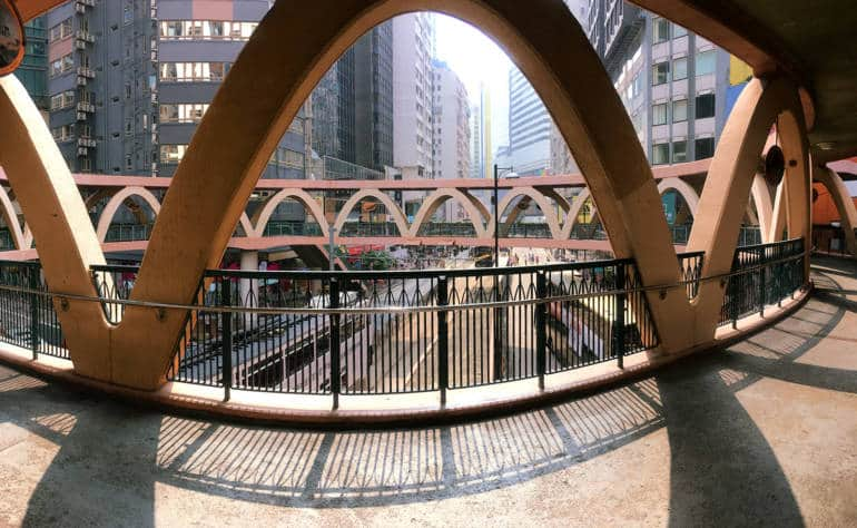 Causeway Bay's Yee Wo Street Circular Bridge - Causeway Bay things to do