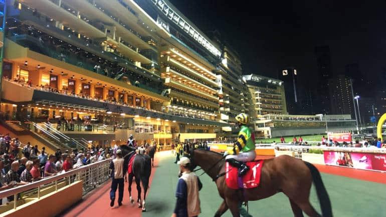 Parade Ring at Causeway Bay's Happy Valley Racecourse