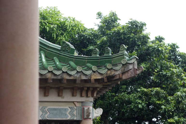 King Yin Lei restored roof drippers and tile ends