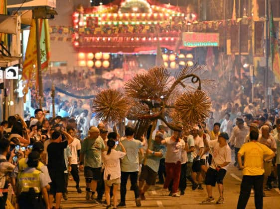 Tai Hang Fire Dragon Dance Mid-Autumn Festival