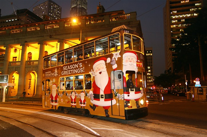 Hong Kong Tram Christmas Theme