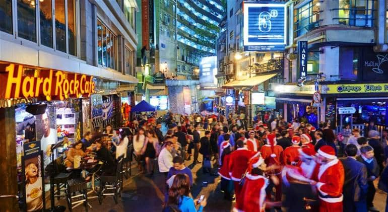 Christmas Lan Kwai Fong