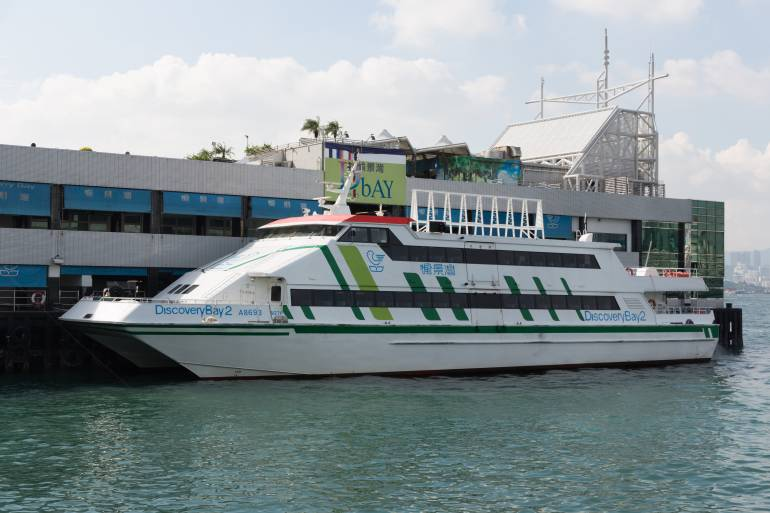 Discovery Bay ferry at the downtown pier