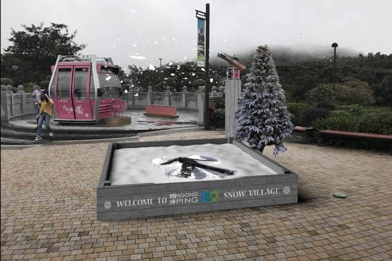 Ngong Ping 360 Snowy Christmas