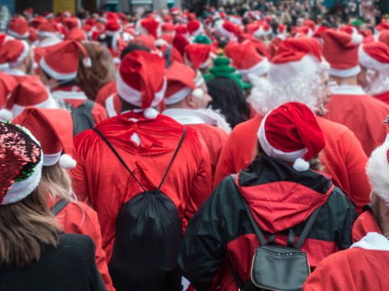 Santacon event in London
