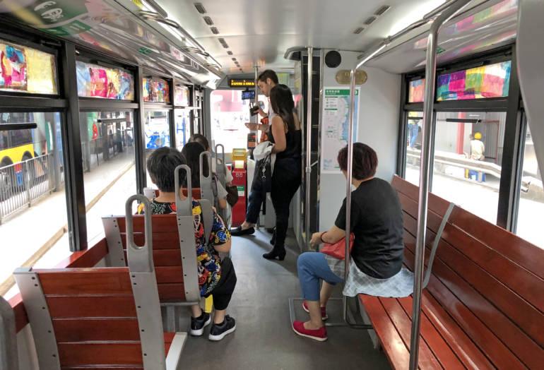 Interior of Modern Tram