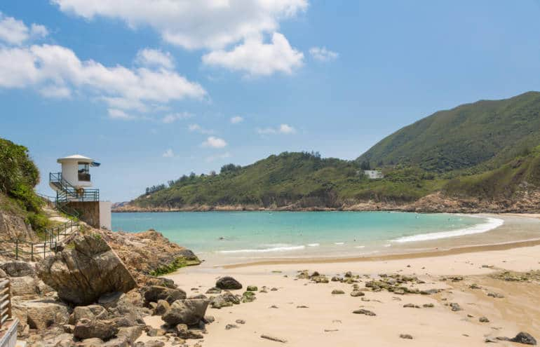 Hong Kong with kids at Shek O